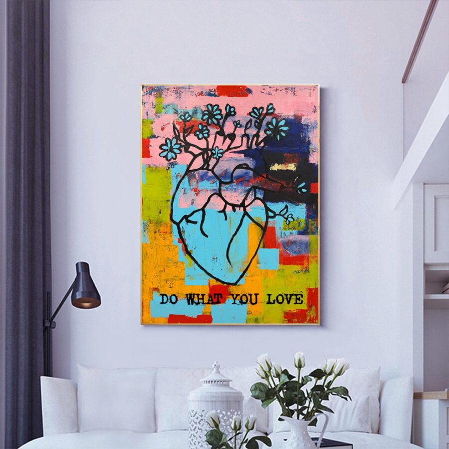 Do What You Love - Heart by Sergey Gordienko