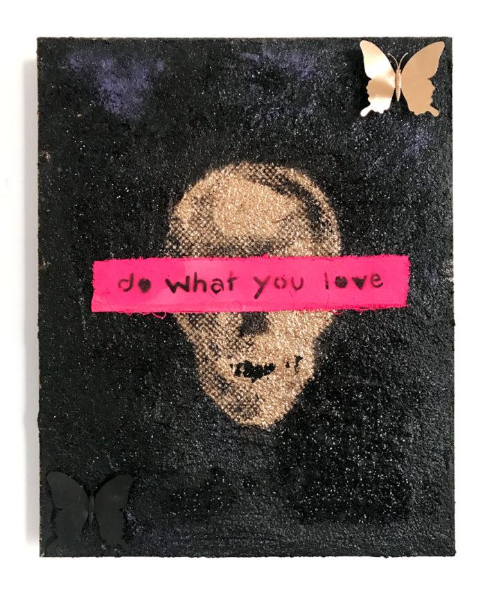 Do What You Love - skull 2 by Sergey Gordienko